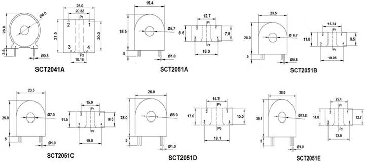 PCB Mounted Series Current Transformer 5